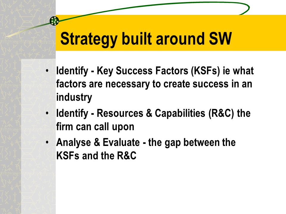 how has walgreens developed its resources and capabilities around these ksfs A firm's resources and capabilities represent its competitive assets and are big determinants of its competitiveness and ability to succeed in the marketplace  and profiles developed by competitive intelligence units  ( ksfs) are the strategy elements, product and services attributes,.