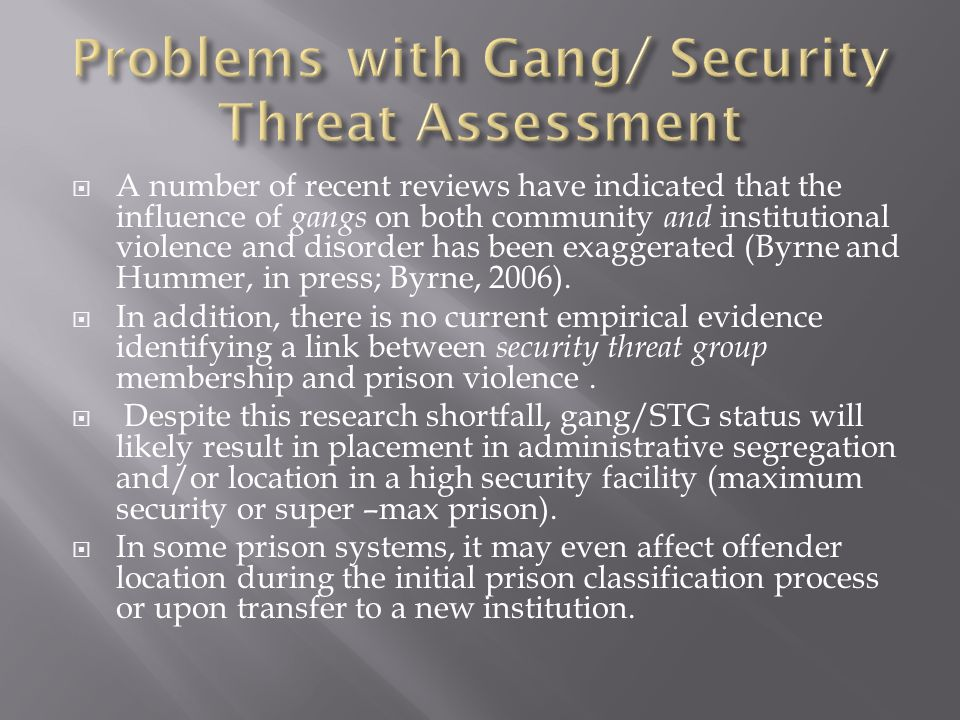 influence of gangs