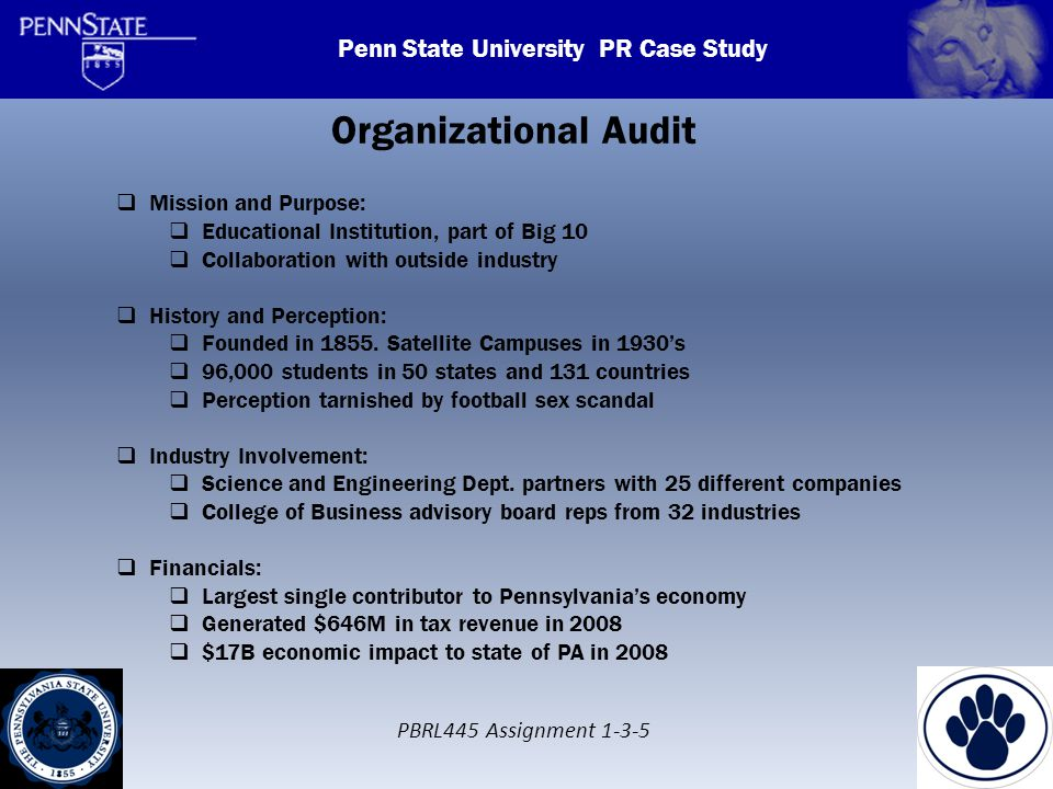 Penn State Scandal Crisis Communications Case Study ...