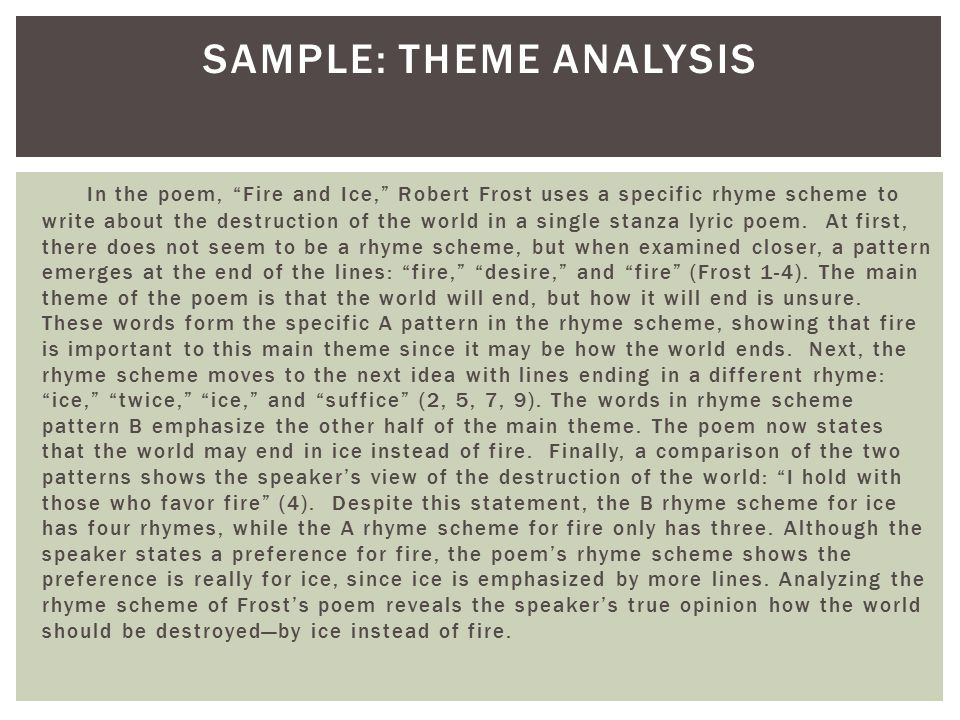 Sample: Theme Analysis