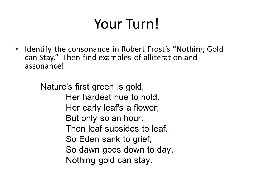 how to find assonance in a poem