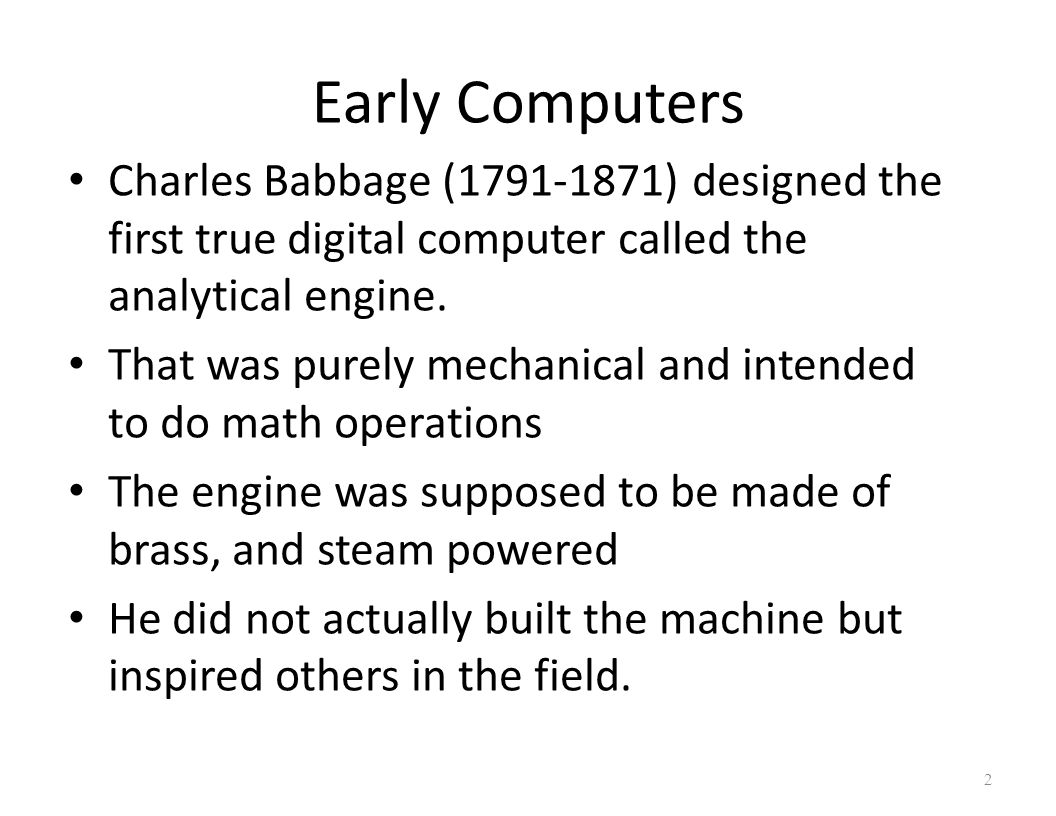 "introduction to charles babbage Ada lovelace, ""notes"" to a ""sketch of the analytical engine invented by charles babbage, by lf menabrea,"" in scientific memoirs (london, 1843), vol 3."