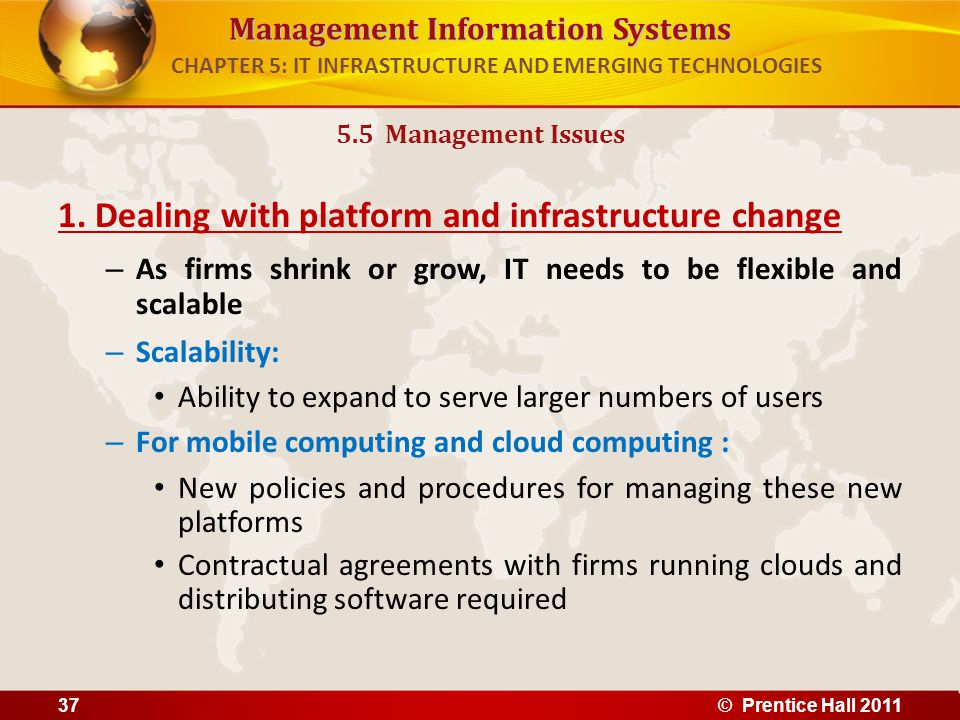 """infrastructure emerging technologies in it Chapter 5 summary: it infrastructure and emerging technologies information technology infrastructure is defined as, """"the shared technology resources that provide the platform for the firm's specific information systems application."""