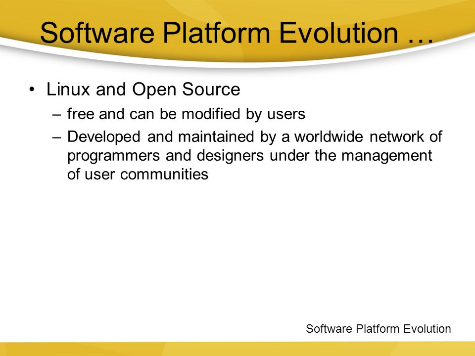 Software Platform Evolution …