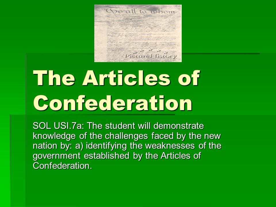 an analysis of the articles of confederation View essay - ac vs con from us history us history at howe h s articles of confederation vs the constitution the following analysis of the articles of confederation.
