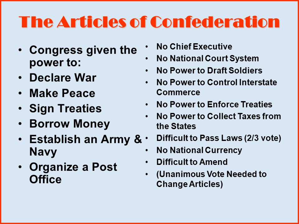 articles of confederation 3 The articles of confederation established the first governmental structure unifying the 13 colonies that had fought in the american revolutionin effect, this document created the structure for the confederation of these newly minted 13 states.