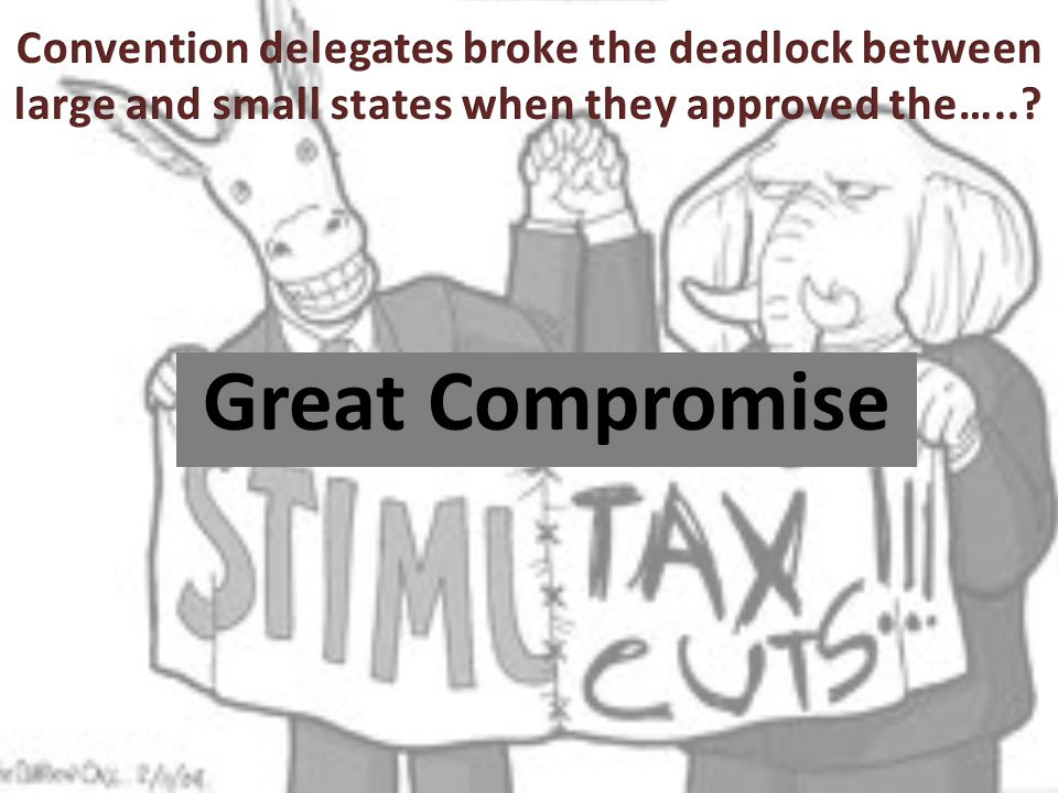 Convention delegates broke the deadlock between large and small states when they approved the…..