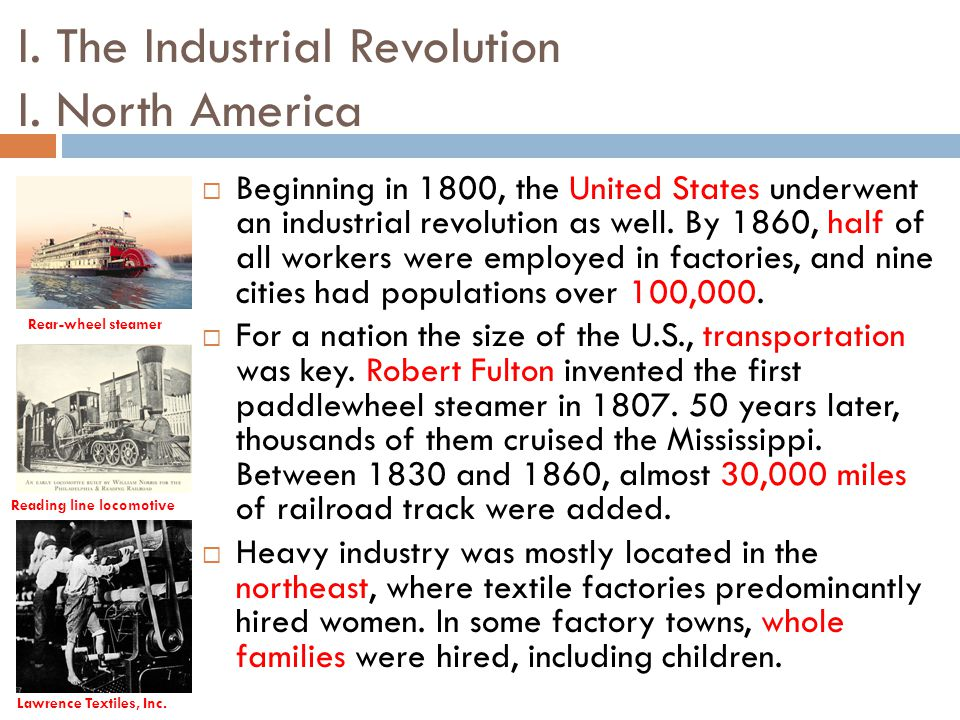 the industrial revolution in north america essay Essays from bookrags provide great ideas for industrial revolution essays and paper topics like essay view this student essay about industrial revolution.