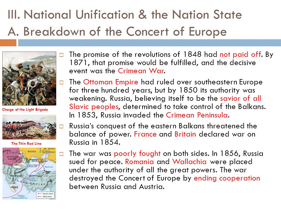 A history of the unification of the nation