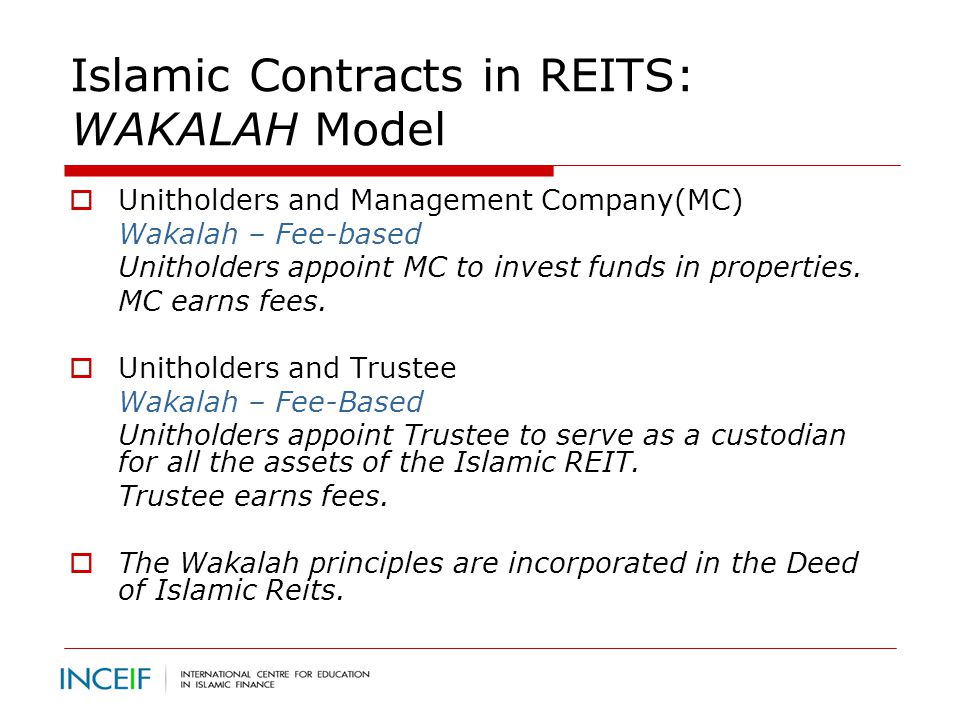 Ib 1006 islamic reits prof dr saiful azhar rosly ppt download islamic contracts in reits wakalah model platinumwayz