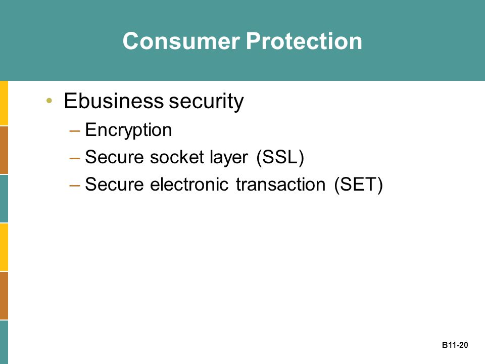 Consumer Protection Ebusiness security Encryption