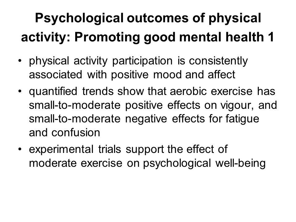 positive psychological effects on exercise Introduction the effect of qigong on psychological well-being is relatively unknown this study systematically reviewed the effects of qigong on anxiety, depression, and psychological.