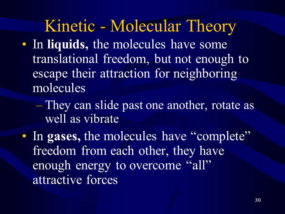kinetic molecular theory of matter pdf
