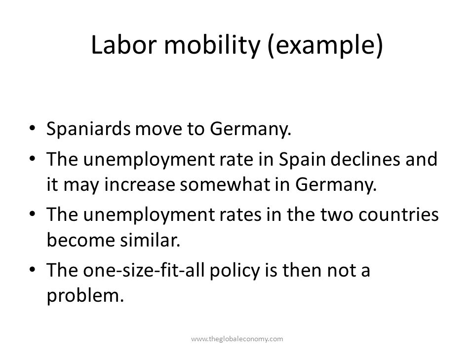 Labor mobility (example)