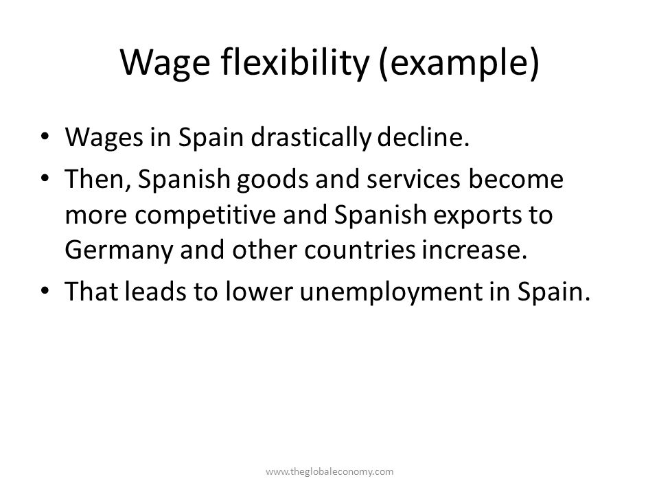 Wage flexibility (example)