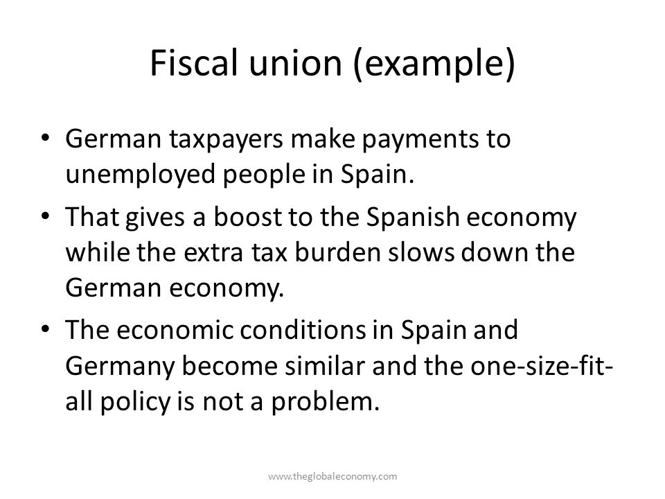 Fiscal union (example)