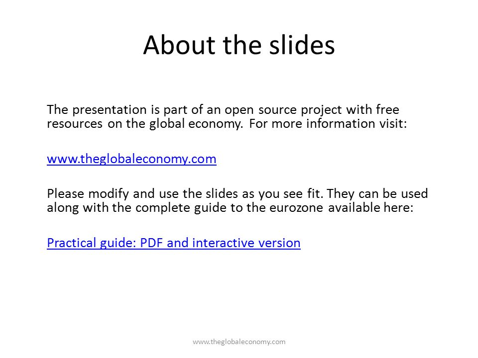 About the slides