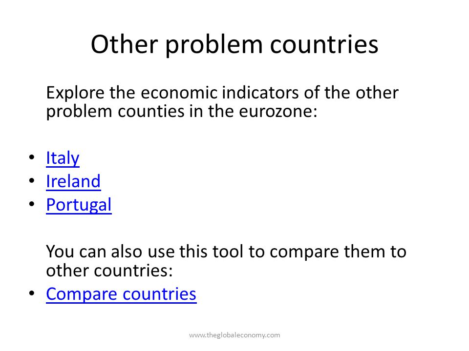 Other problem countries