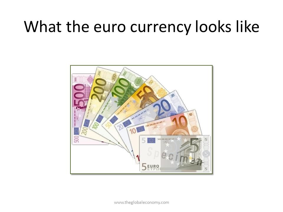 What the euro currency looks like
