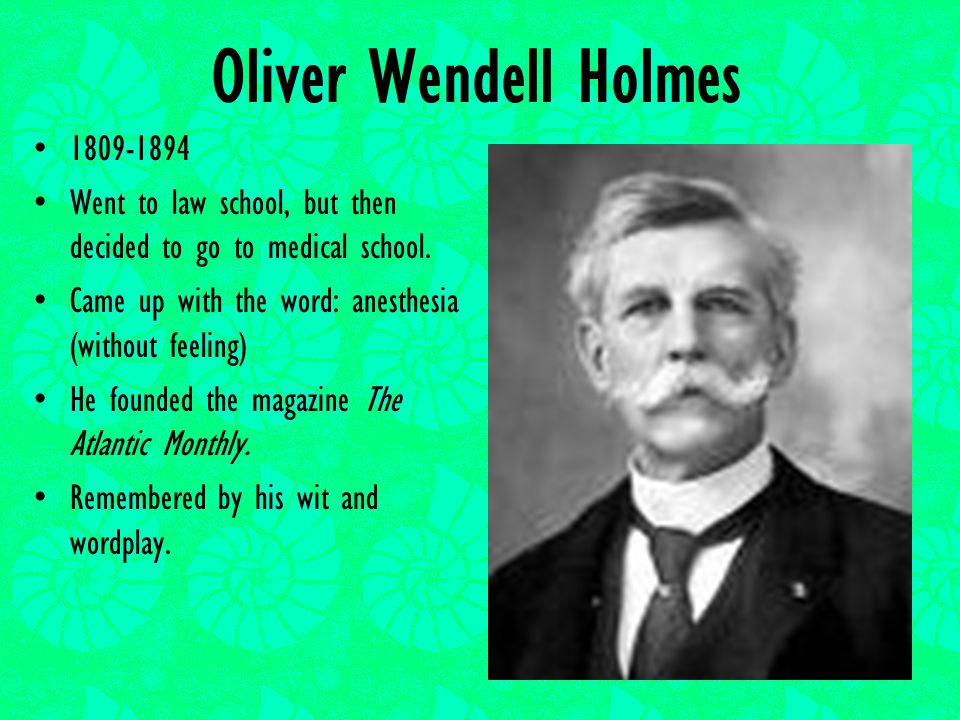 oliver wendell holmes medical essays Description this section is from medical essays, by oliver wendell holmes also available from amazon: medical essays the medical profession in massachusetts.