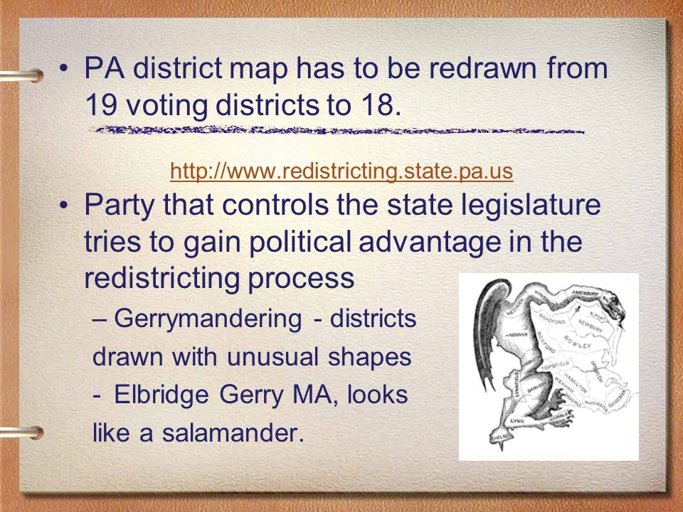 Pa District Map Has To Be Redrawn From 19 Voting Districts To 18