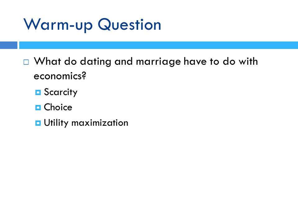 Economics of online dating