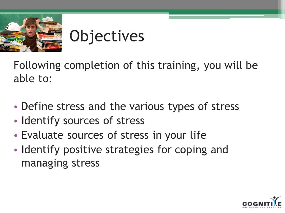 identify the sources of stress in your life pdf