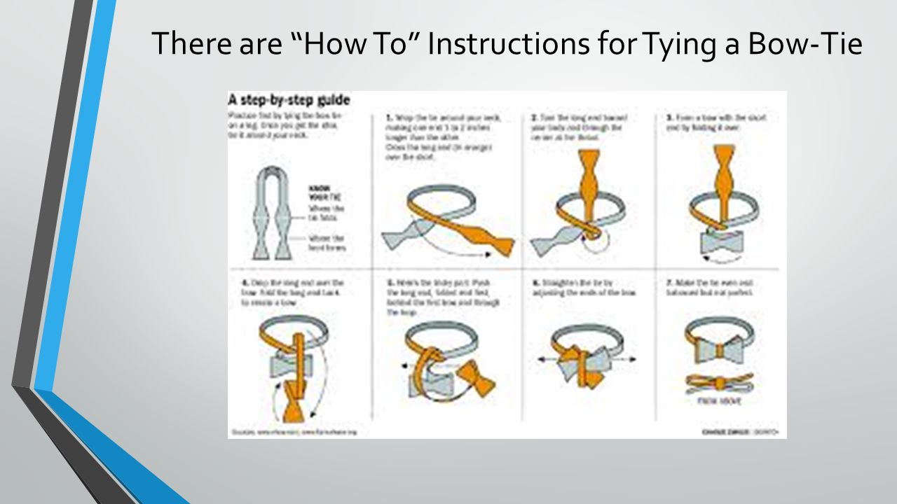 how to tie a bow tie easy instructions