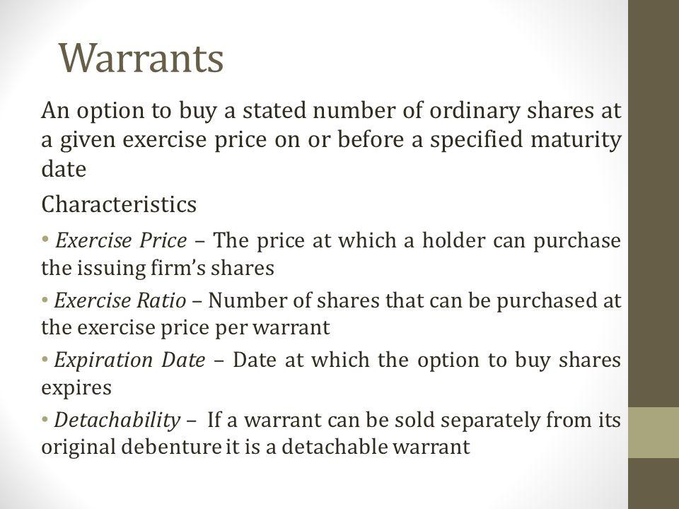 how to buy stock warrants