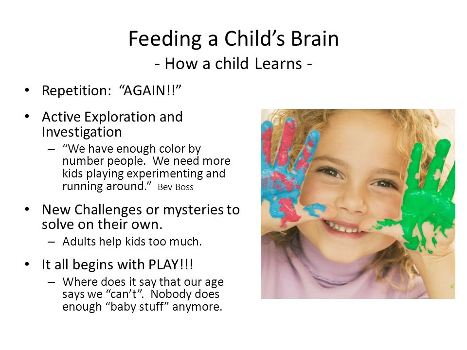 Feeding Our Active Mind