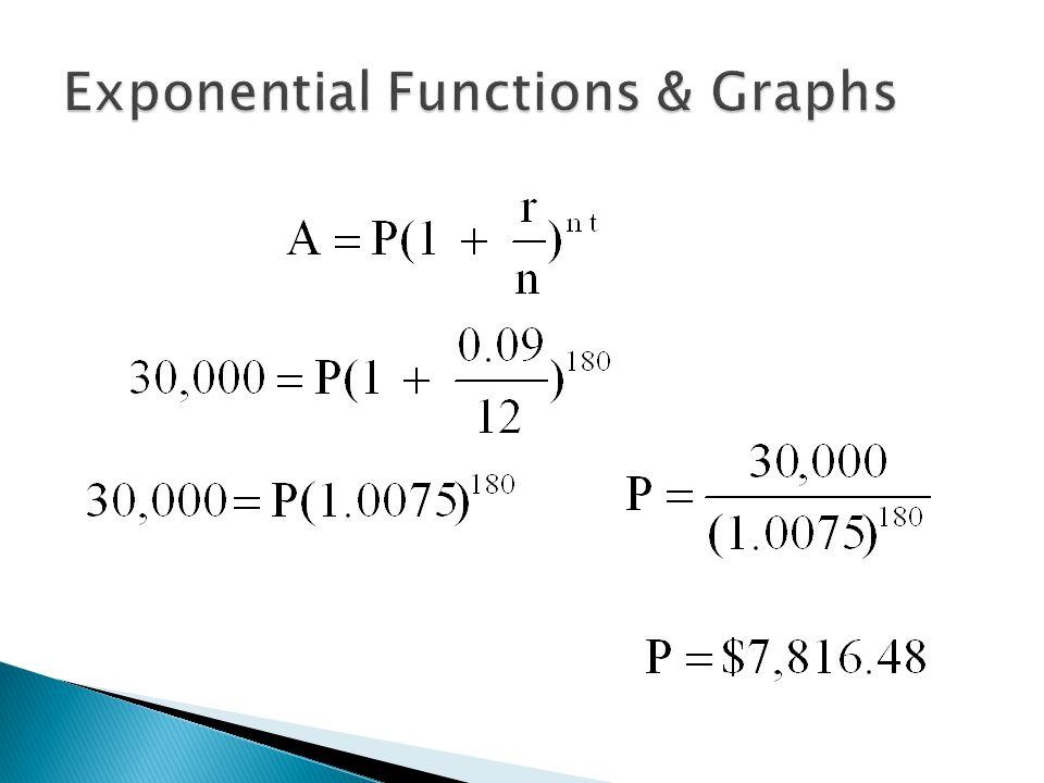 how to find exponential function from graph