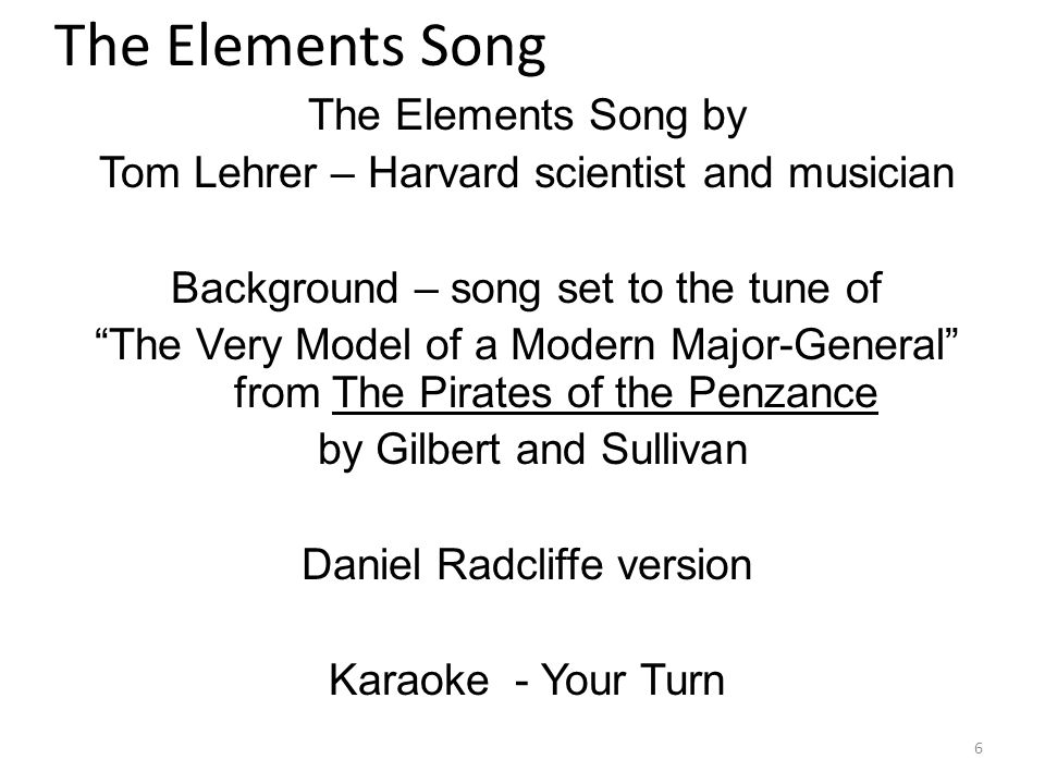 Daniel radcliffe periodic table song gallery periodic table of astonishing periodic table of elements song model pictures best urtaz Images