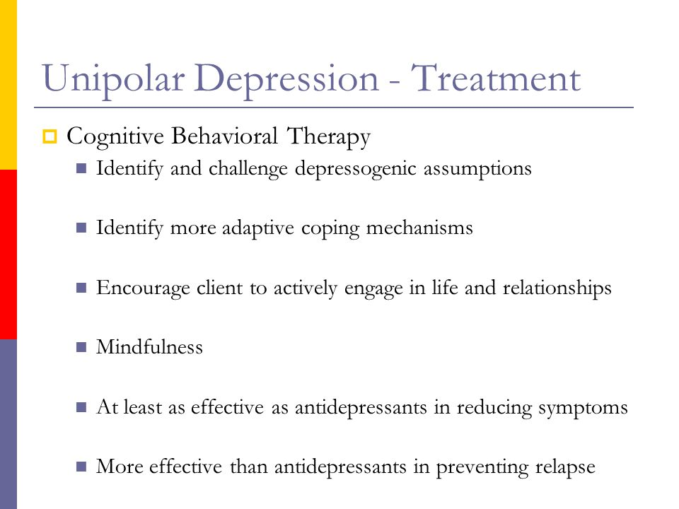 Unipolar Depression – Major Depression – Signs, Symptoms & Treatment