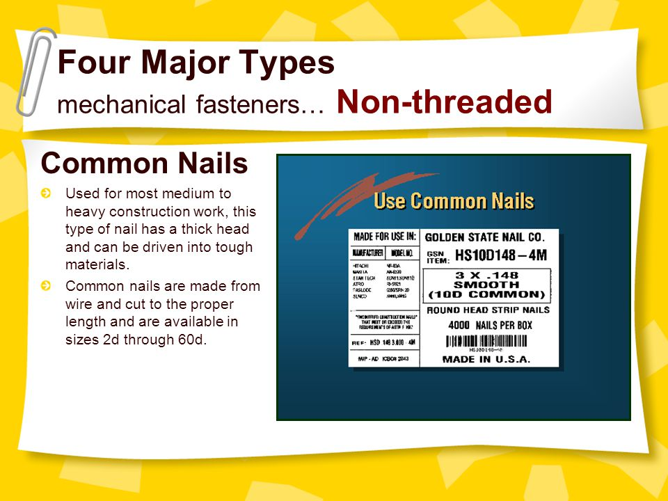 Basic Mechanical Fasteners - ppt video online download