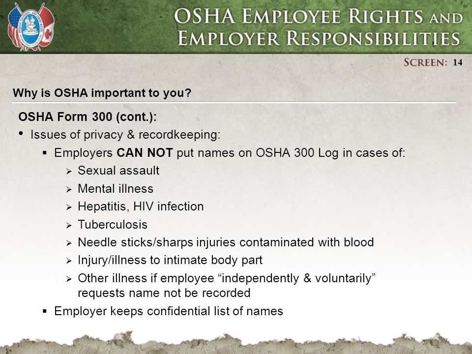 Osha Employee Rights And Employer Responsibilities - Ppt Download
