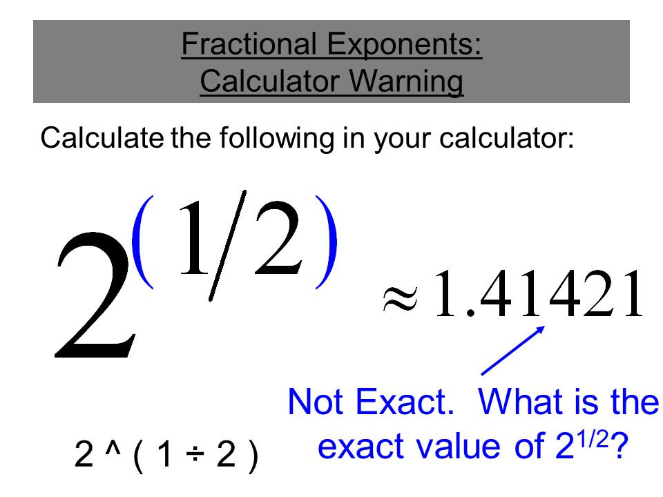 Fractional Exponents and Radicals - ppt video online download