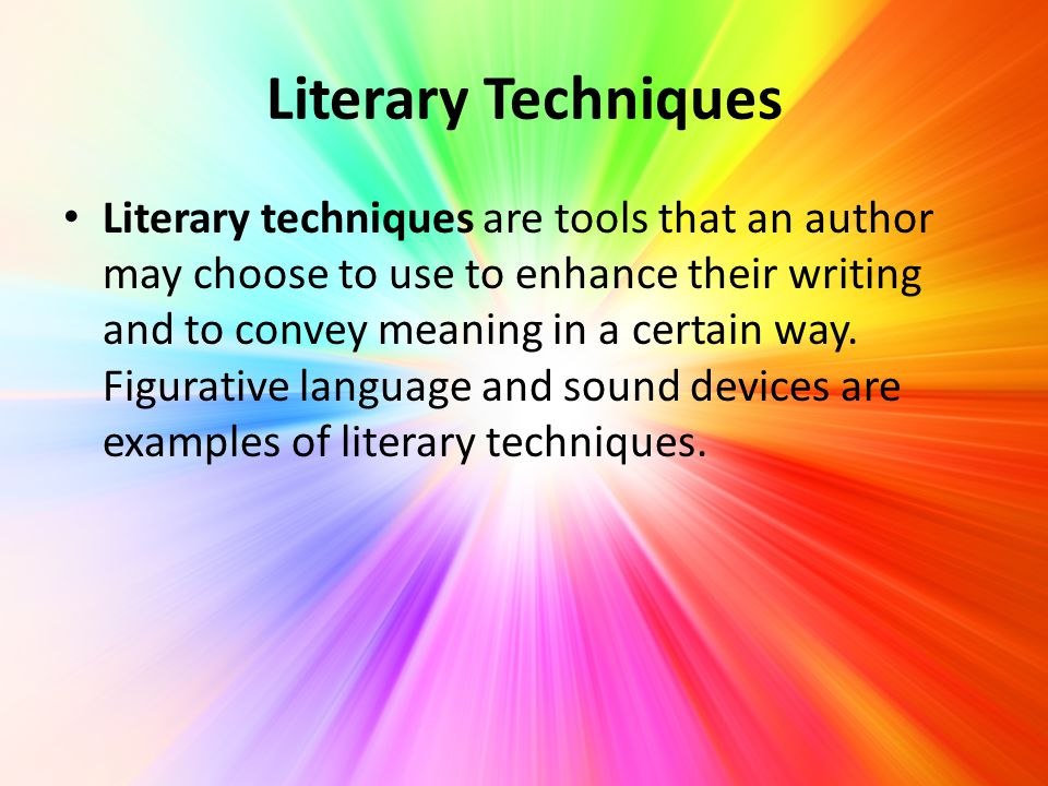 language sound and literary choices the Vocabulary to describe literary devices april 9  imagery is used in literature to refer to descriptive language that  a simile is a literary device where the.