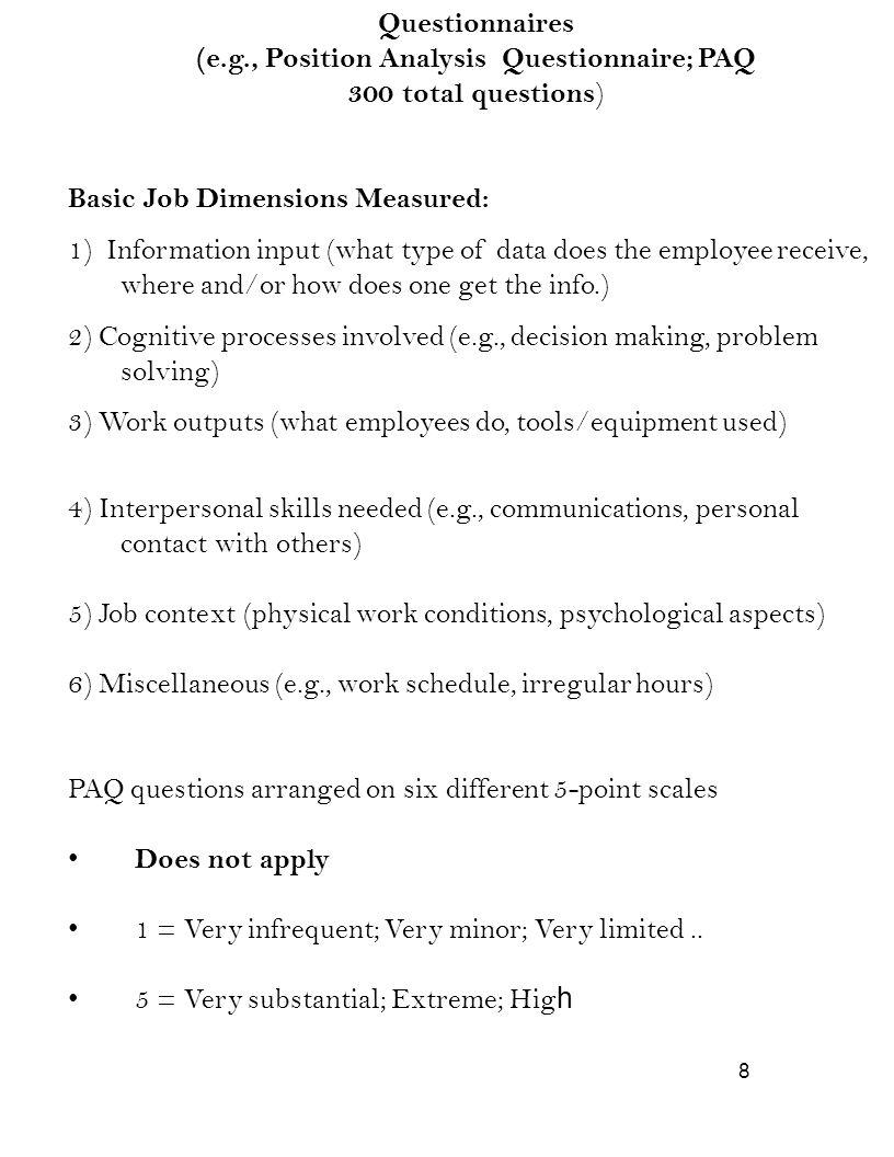 Position Description Questionnaire Template Images Design