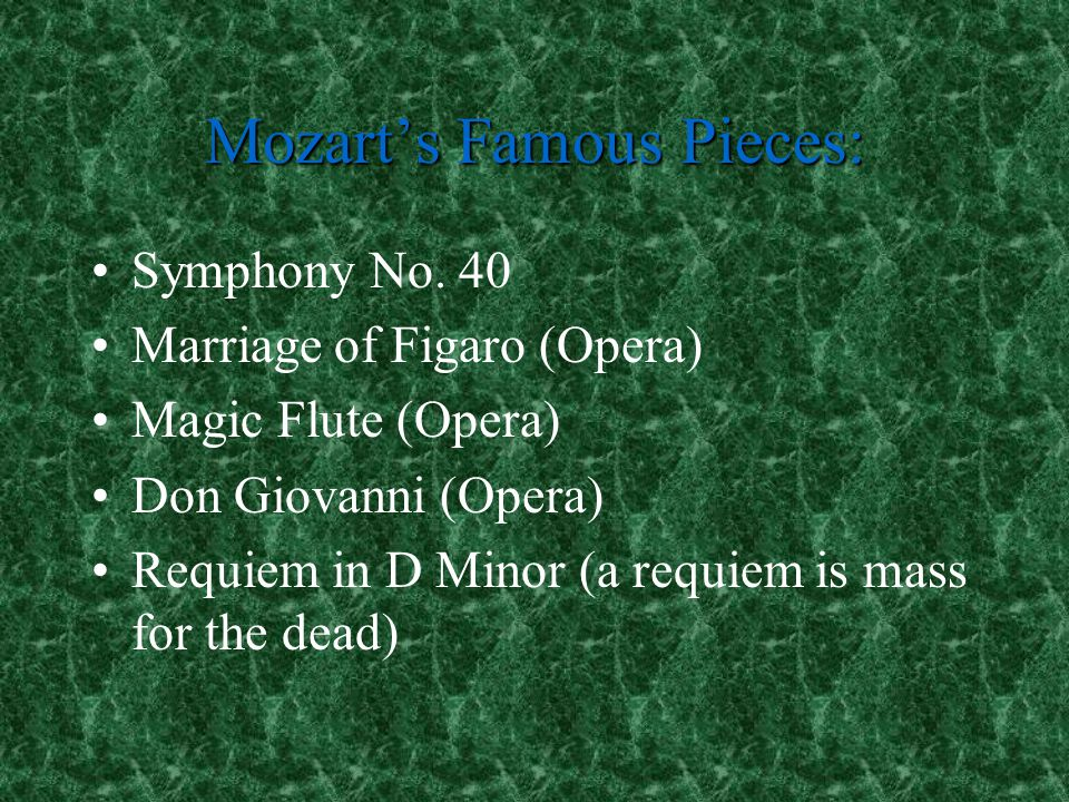 Mozart's Famous Pieces: