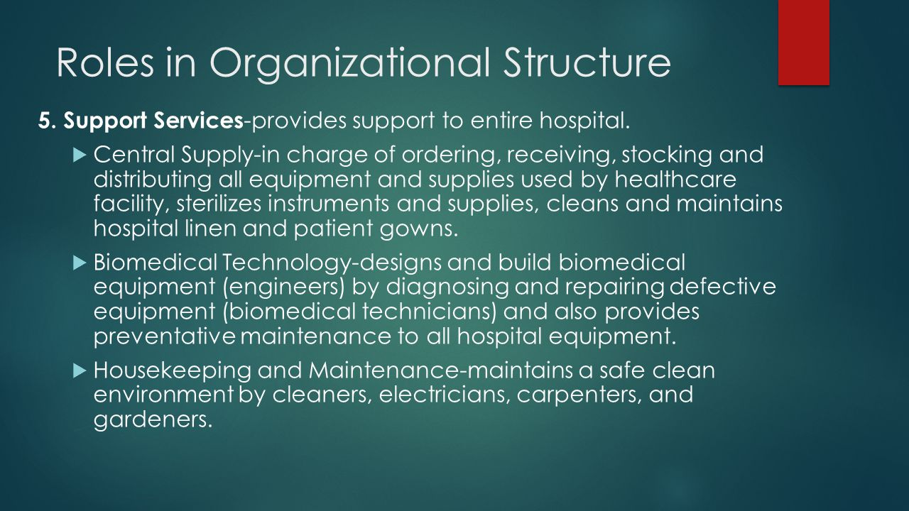Roles in Organizational Structure