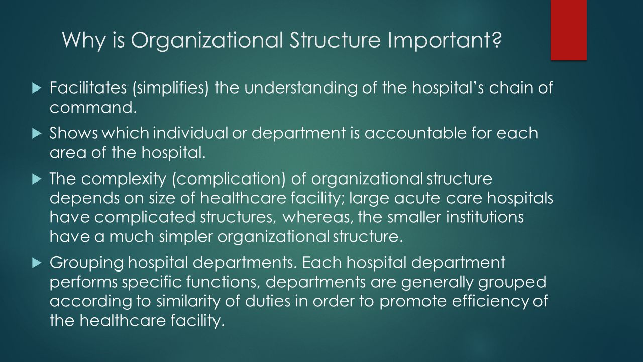 Why is Organizational Structure Important