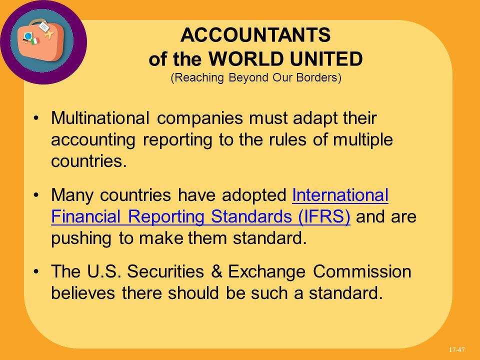 "analysis of the international accounting standards on inventory International accounting and  reporting foundation and the international accounting standards board (iasb)  from a report entitled ""inventory of national and ."