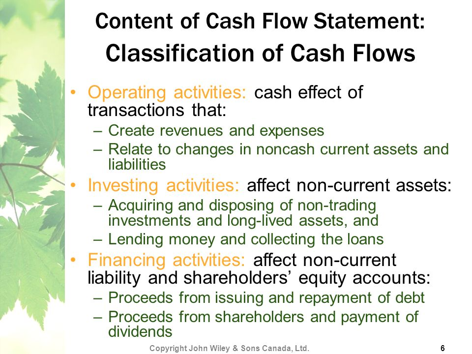 The Cash Flow Statement  Ppt Video Online Download