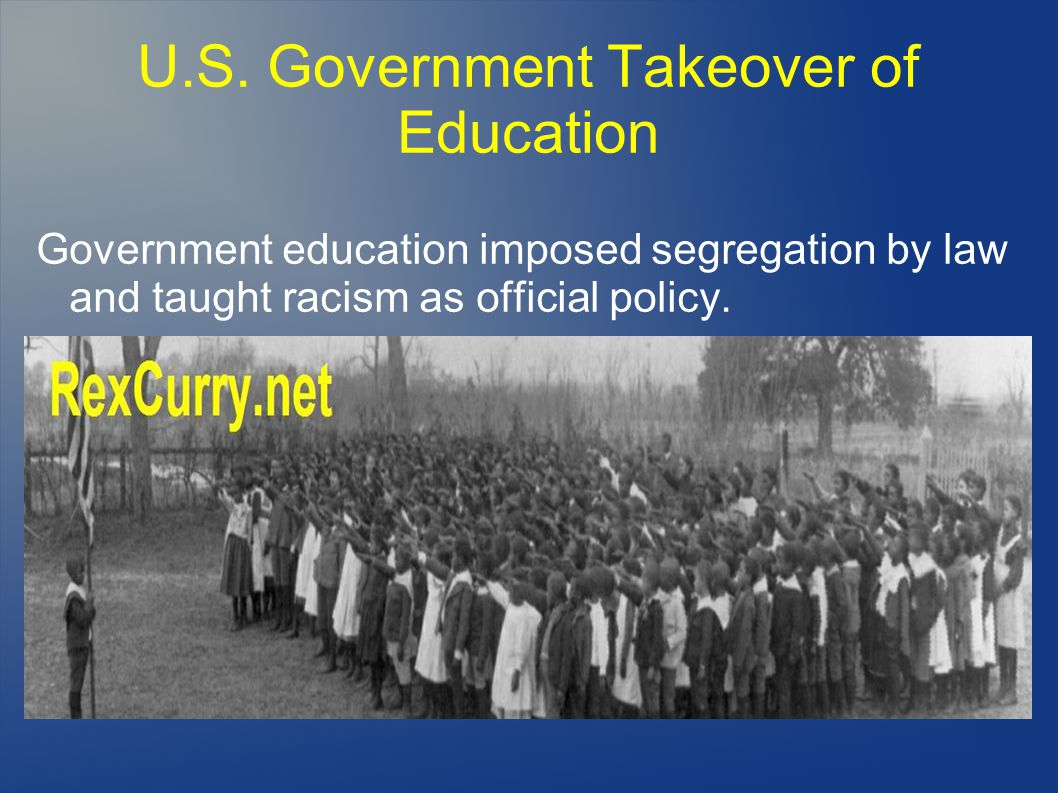 U.S. Government Takeover of Education