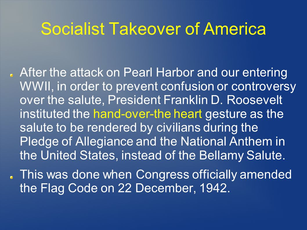 Socialist Takeover of America