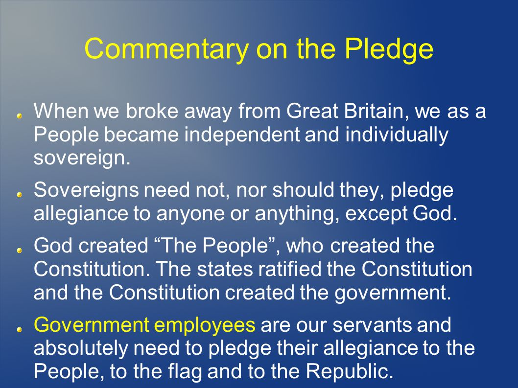 Commentary on the Pledge
