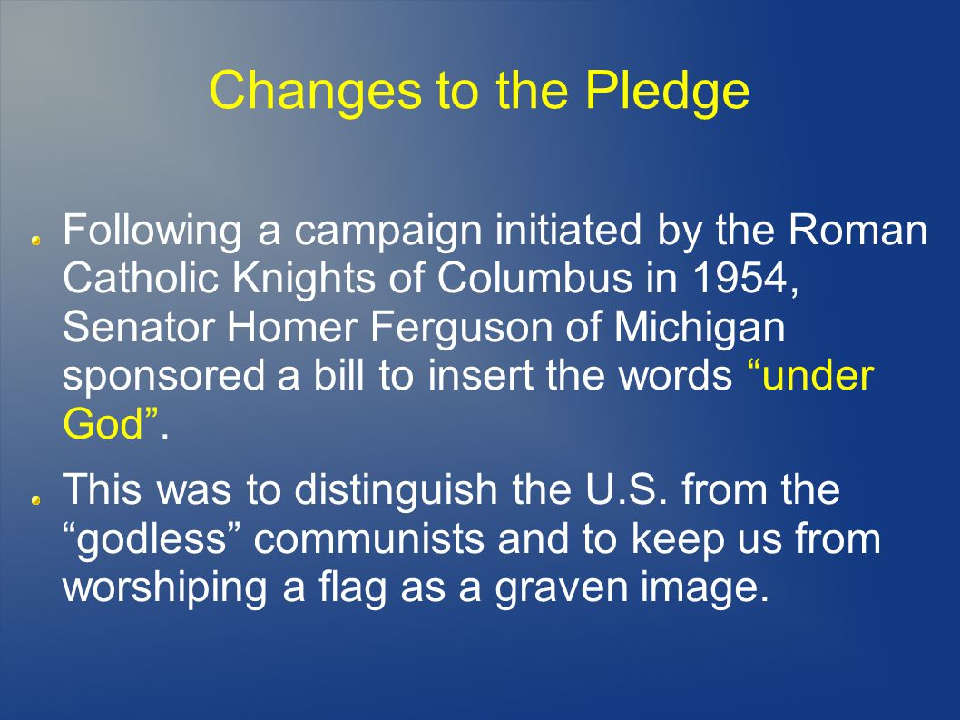 Changes to the Pledge