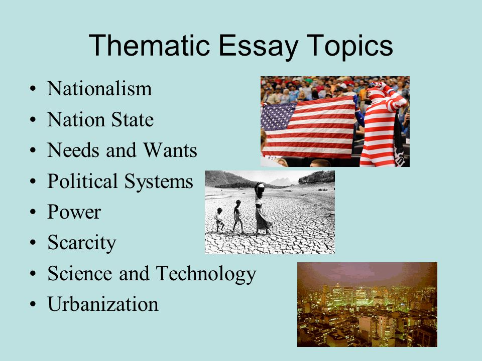 thematic essay on interdependence Use these lessons to help prepare for the regents thematic essay  10)  diversity & interdependence: (interdependence: pros and cons terrorism .