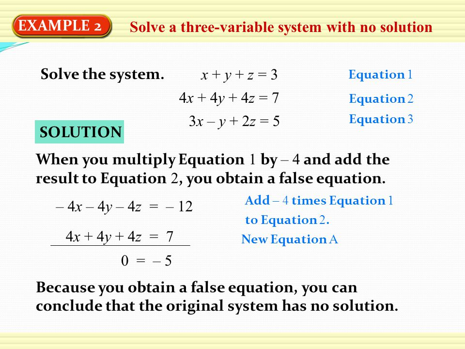 System of Equations?