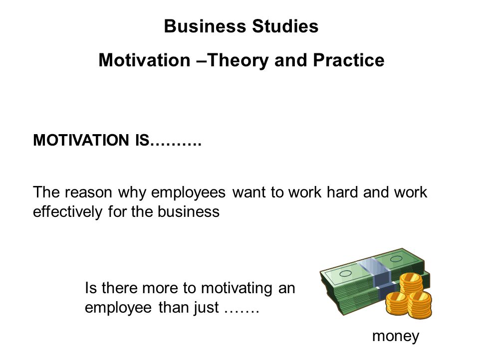 Business Studies Motivation Report Essay